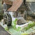 réalisation d'un Moulin à eau Médieval modèle Tabletop World