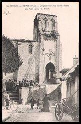 Mehun sur Yevre Eglise frappée par la foudre