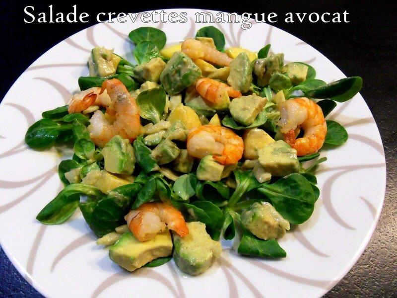 salade crevettes mangues avocat