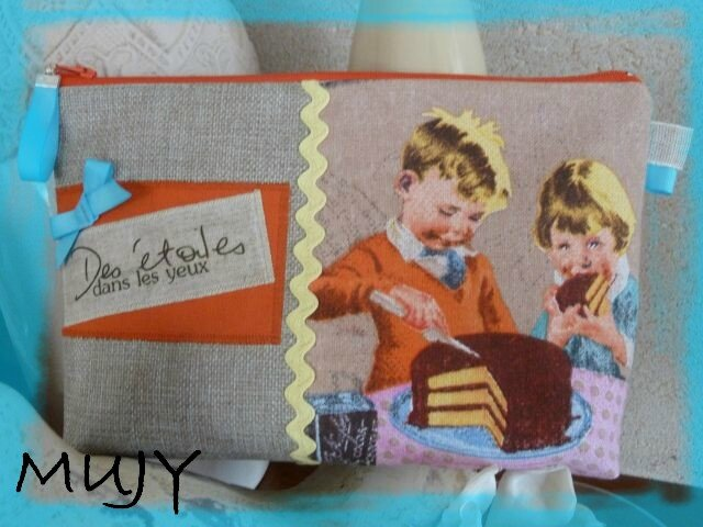 trousse Vintage enfants grand format