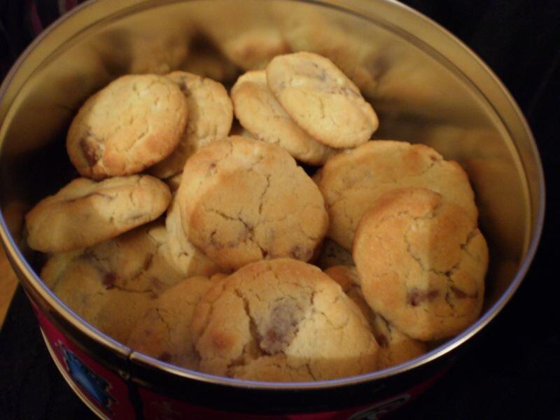 Cookies à l'amande, au citron, à la pralinoise