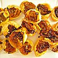 mini tartelettes au fenouil/orange/coriandre