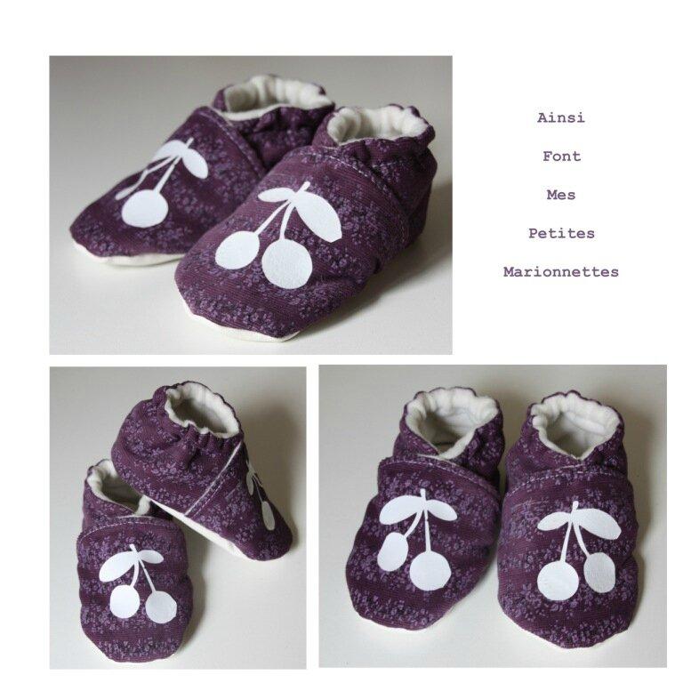 chausson violet cerise maelenn