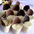 Mousse au chocolat blanc-noix de coco