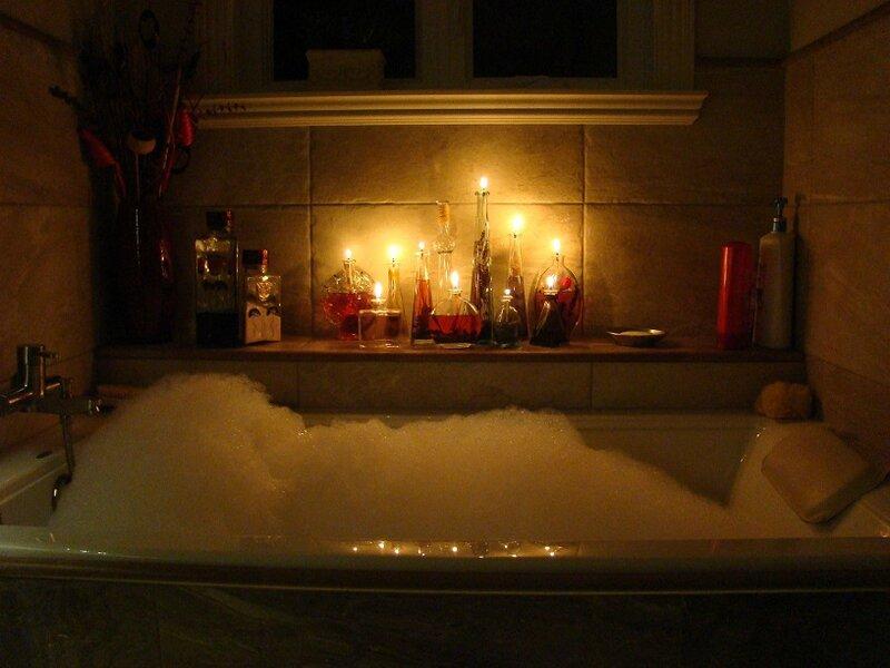 bain mousse et chandelles