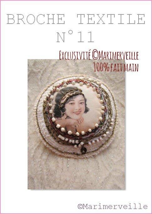Broche textile 11 Marimerveille