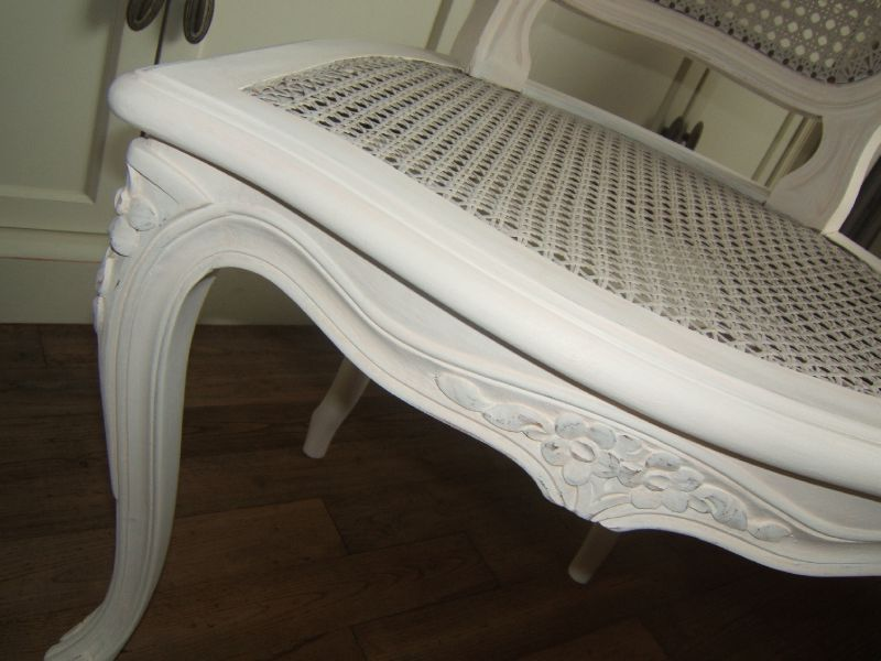 Chaise r gence patin e le grenier de christelle for Peinture patinee