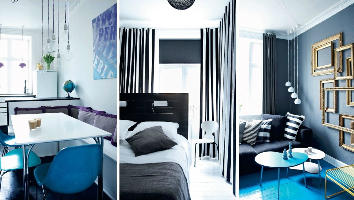 chambre grise et bleu. Black Bedroom Furniture Sets. Home Design Ideas