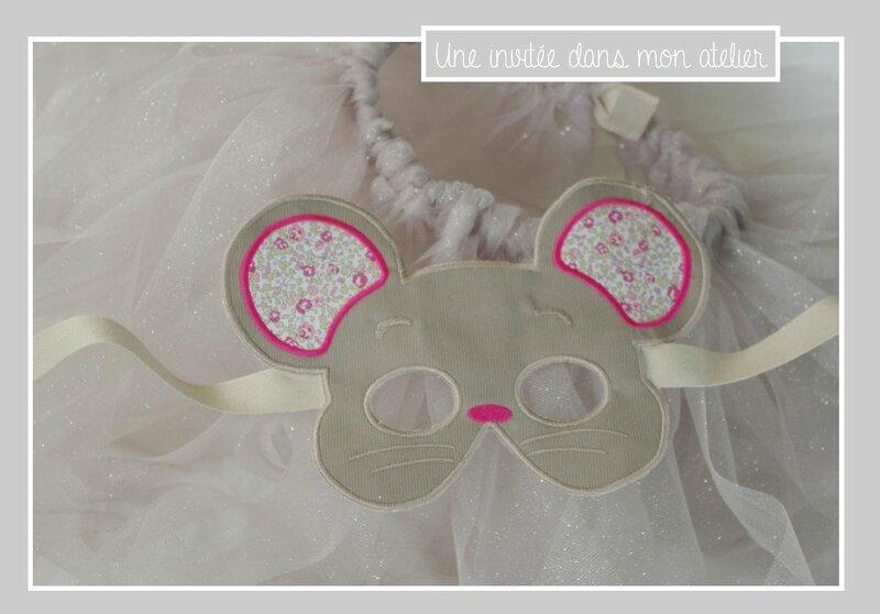 déguisement de souris-Liberty eloise rose-masque et tutu à pailettes
