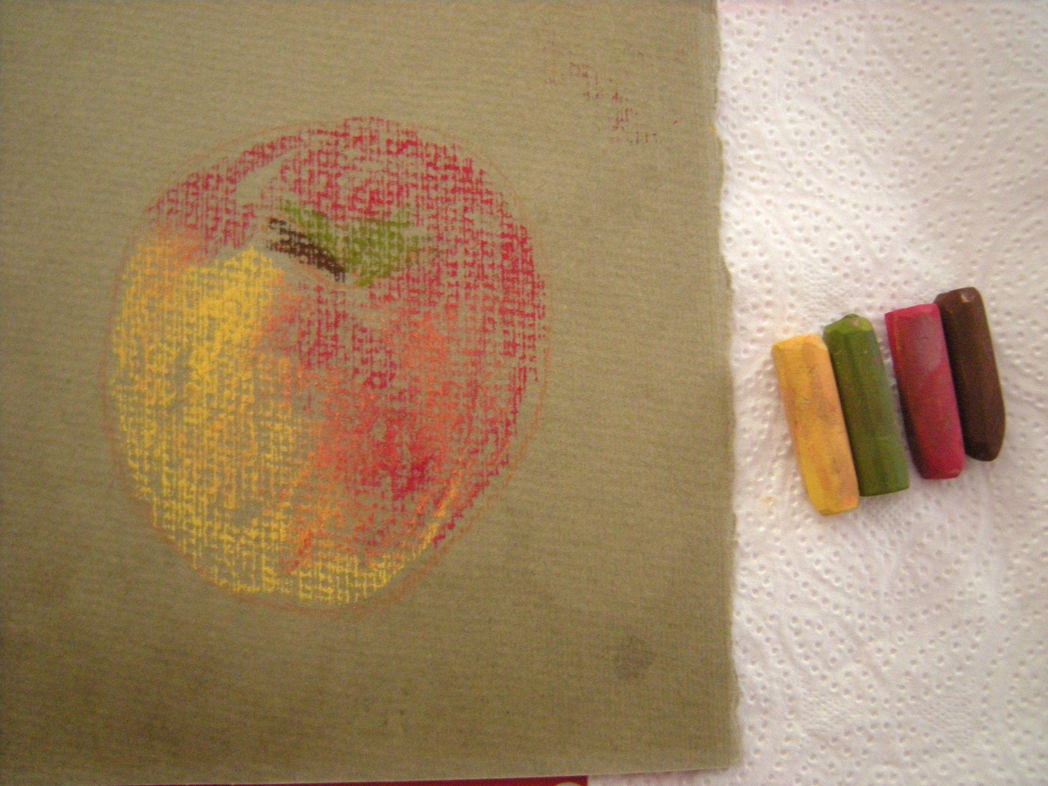 Comment dessiner une pomme aux pastels secs domi dessins for Comment enlever du silicone sec