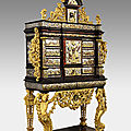 Henry van soest, cabinet with the coat of arms of king philip v of spain, ca. 1701-13,