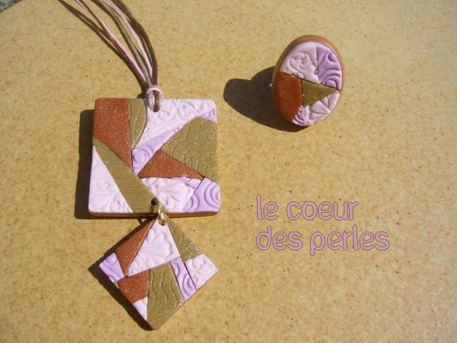 collier fimo textures