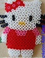 Hello Kitty en perles à repasser
