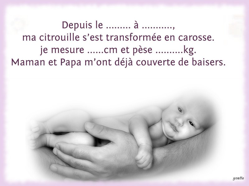 Top CARTES FAIRE-PART DE NAISSANCE - creationsy PL46