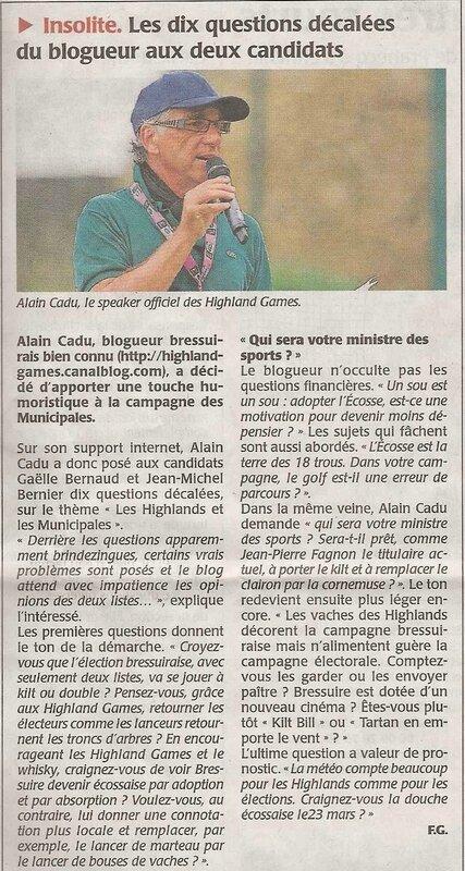 Courrier Ouest 9 mars 2014