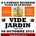 Vide jardin 2013