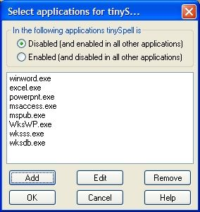 TinySpell_exclusions_applications