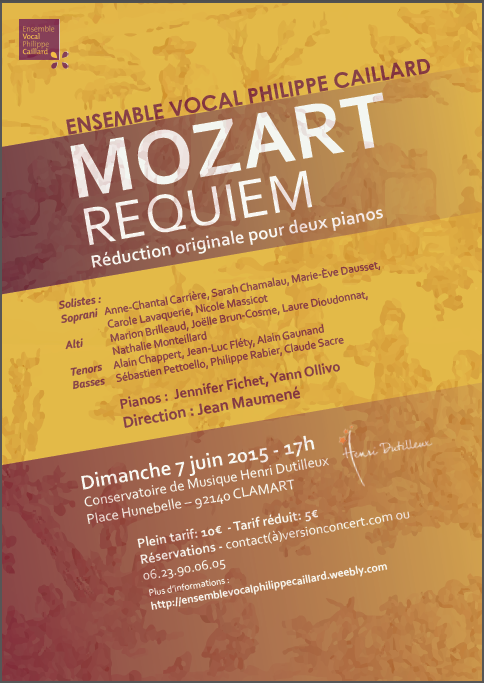 Requiem de Mozart - Ensemble vocal Philippe Caillard - 7 juin 2015