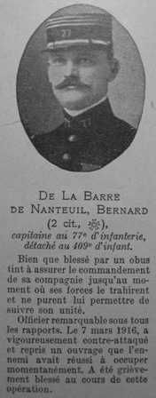 DE LA BARRE DE NANTEUIL Bernard