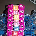 Bracelet en élastiques prénom Louise