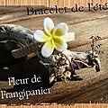 bracelet de l'été fleur de frangipanier 1