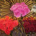 Carré de roses perlées