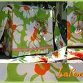 besace verte et orange 25x22cm 30€ frais de port compris