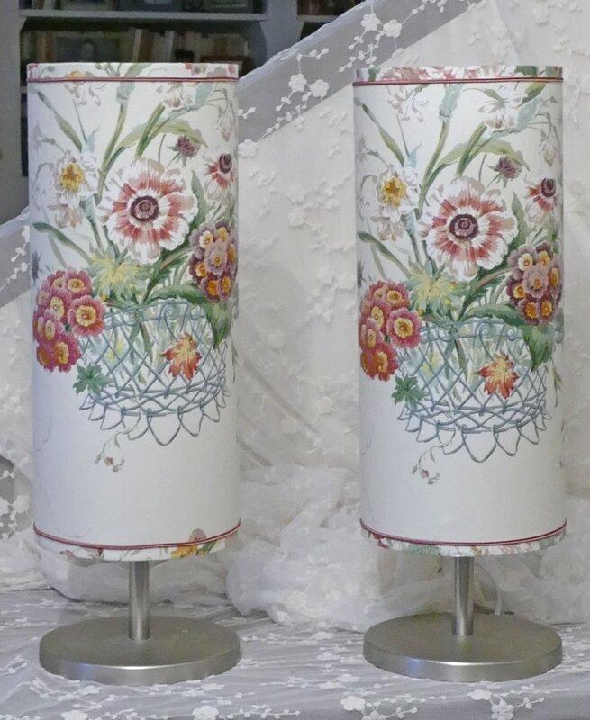 abat-jour cylindrique bouquet 2