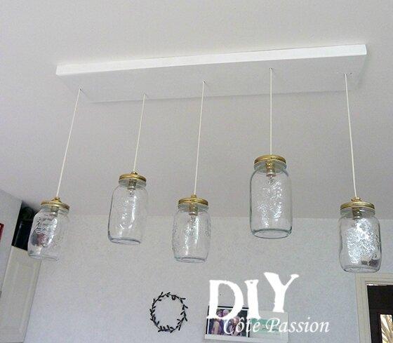 Mason Jar luminaire2Cote Passion