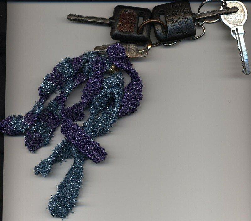 Porte -clés en rubans métallisés