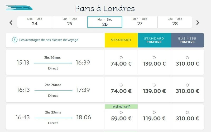 eurostar plus de place 26 MAT