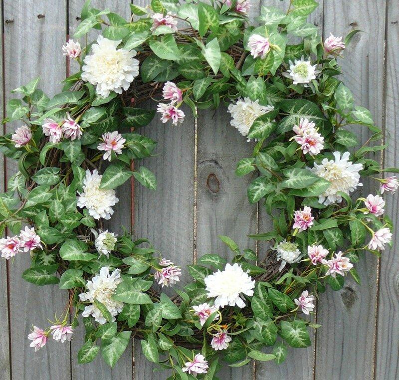 couronnes fleurs fraiches