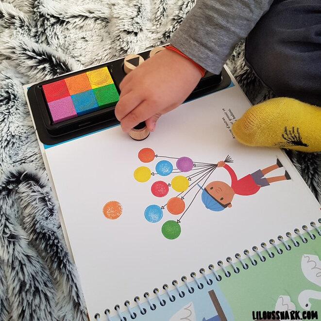 dessine avec des tampons usborne lilousshark