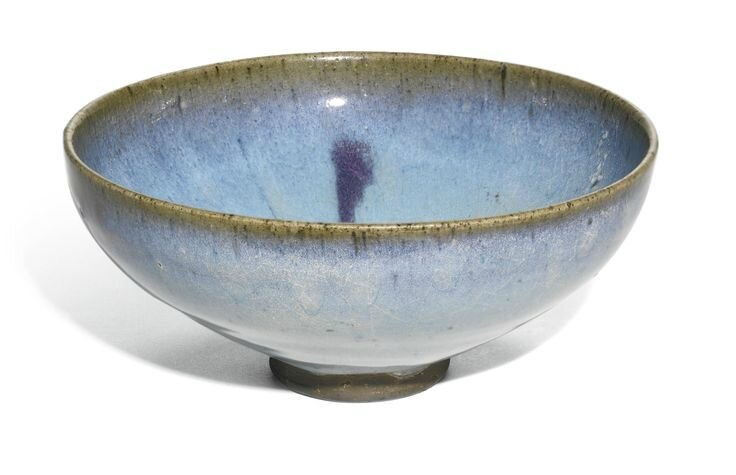 A purple-splashed 'Jun' bowl, Yuan dynasty