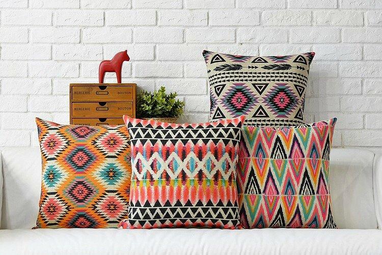 Free-shipping-colorful-Bohemian-Aztec-geometric-diamonds-font-b-triangles-b-font-zigzags-feather-font-b