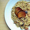 Taboulé de céréales et prune