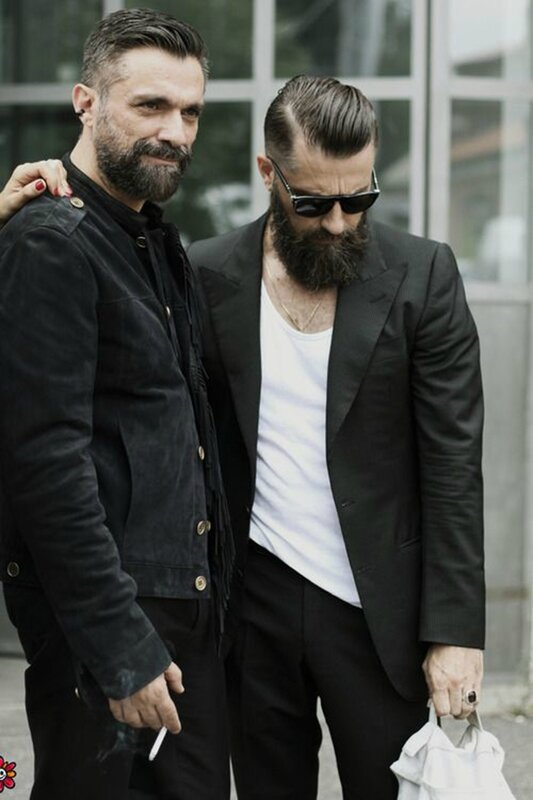 Menswear, Mens style, streetstyle, all black, handsome, beards, fashion hipsters