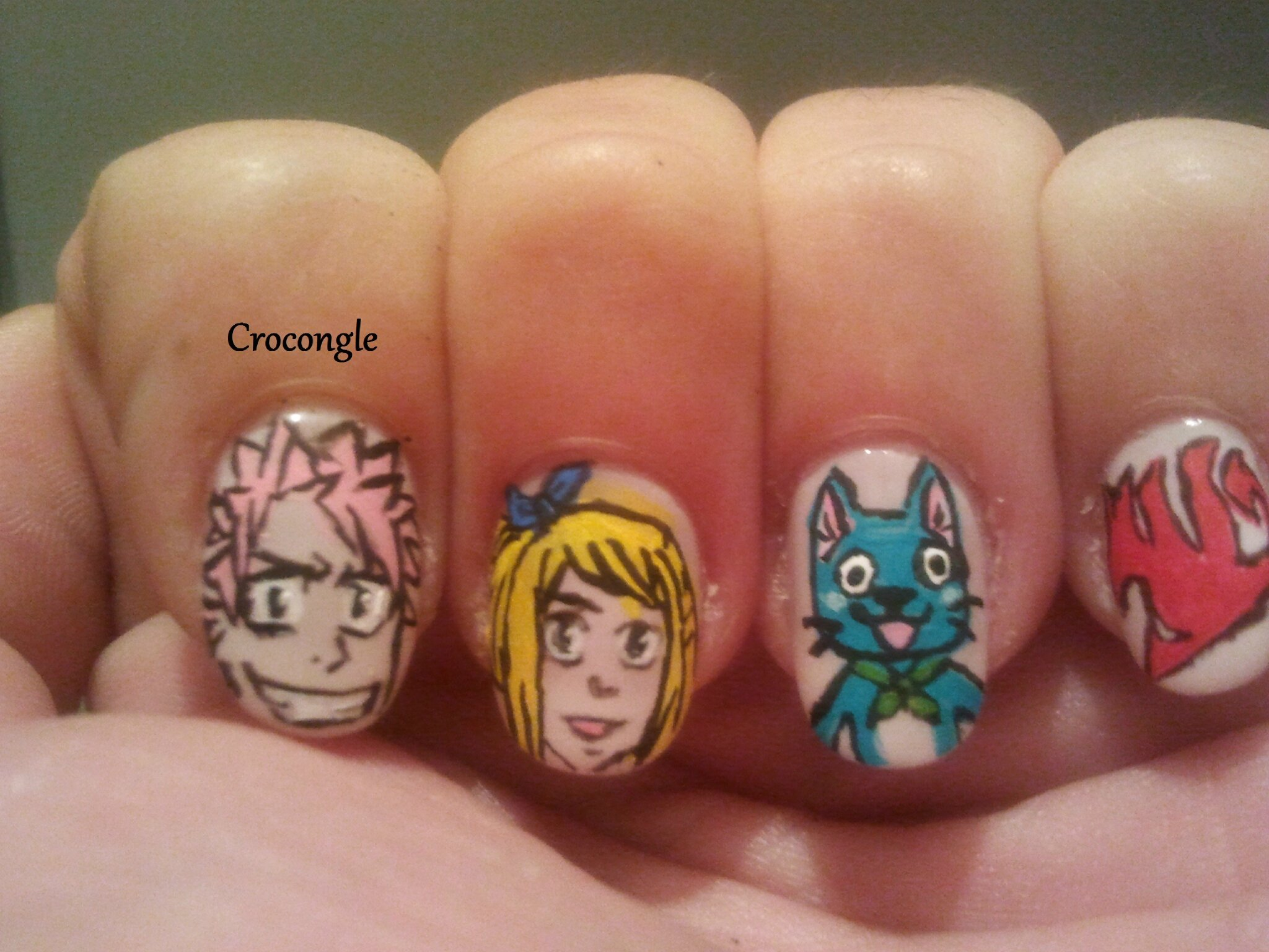 Fairy Tail Nail Designs images