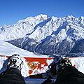 Mont Blanc en fond