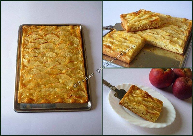 Pavé moelleux aux pommes