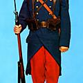 L'uniforme français de 1914.