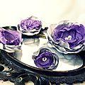 parure bijou et coiffure grande fleur faite main violet argent strass fêtes mariage soirée cereza deco 4