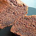 The cake au chocolat (et au vin rouge)