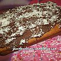 Cake vanille - coco et chocolat milka