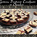 Gateau fondant cacahuete et chocolat ou rhkama
