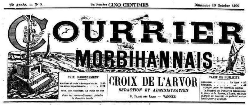 Presse Courrier Morbihannais 1909_1