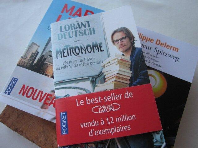 3 nouveaux livres pour LUI...
