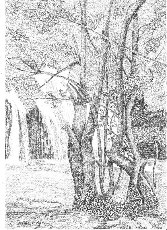 Cascade dessin