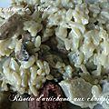 Risotto d'artichauts aux champignons