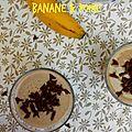 Boisson poire, banane et lait de noisettes!